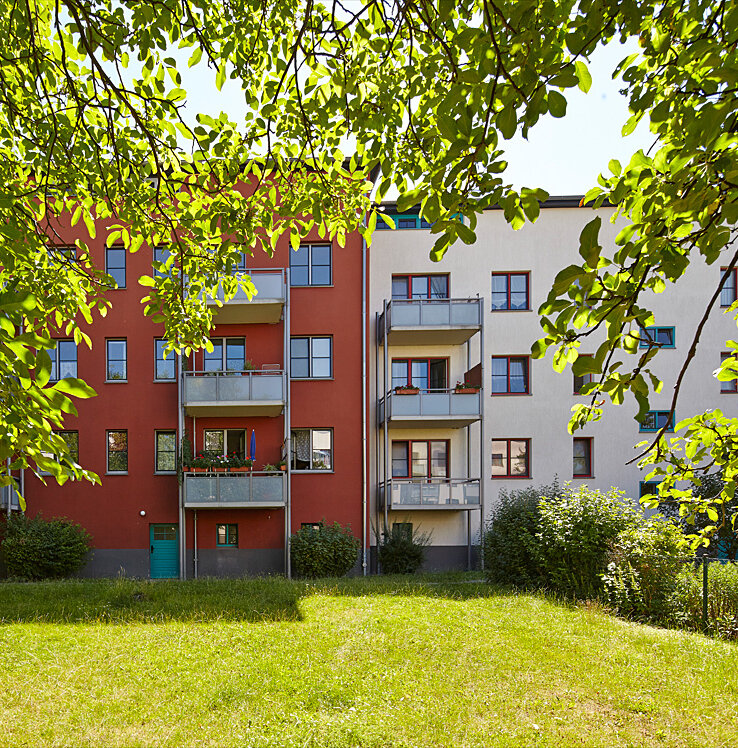 Mietshaus in Magdeburg mit Garten