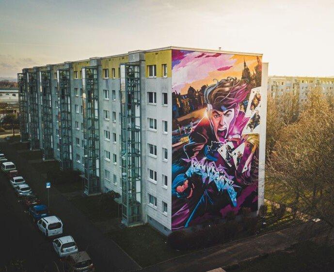 Mural Dresden Superheld von Slider