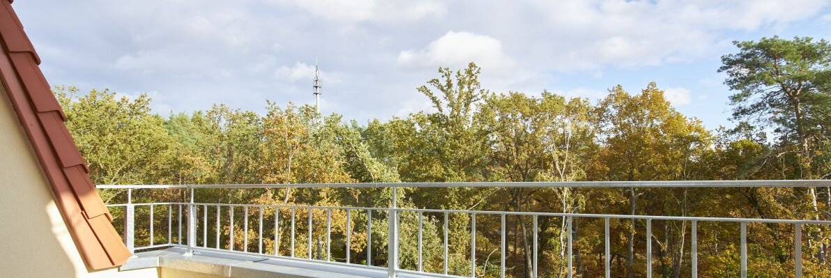 Roof terrace with a view of the countryside