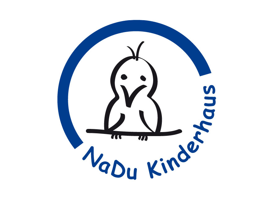 Logo mit gezeichnetem Vogel