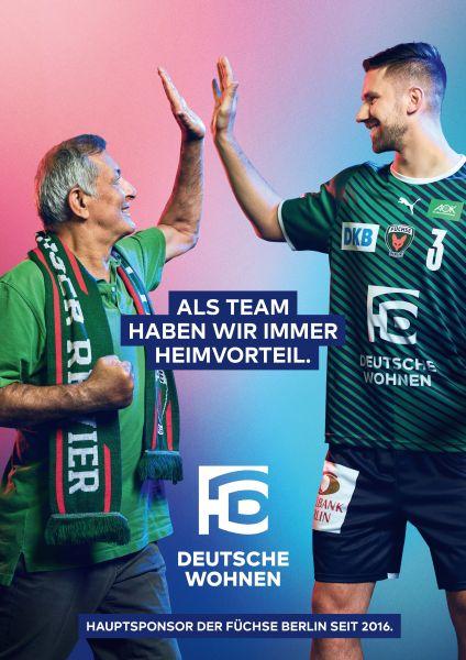 Fabian Wiede gives high five with an older fan