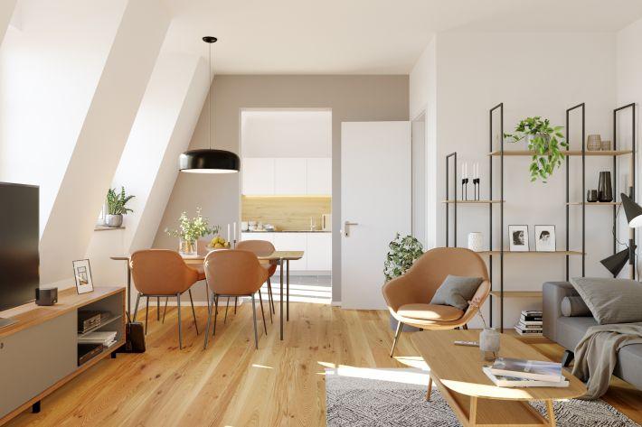 Livingroom in the attic