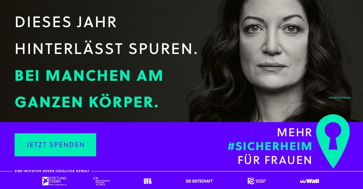 Kampagnenmotiv von Sicherheim mit Natalia Wörner